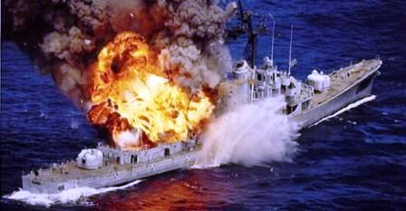 fire on ship