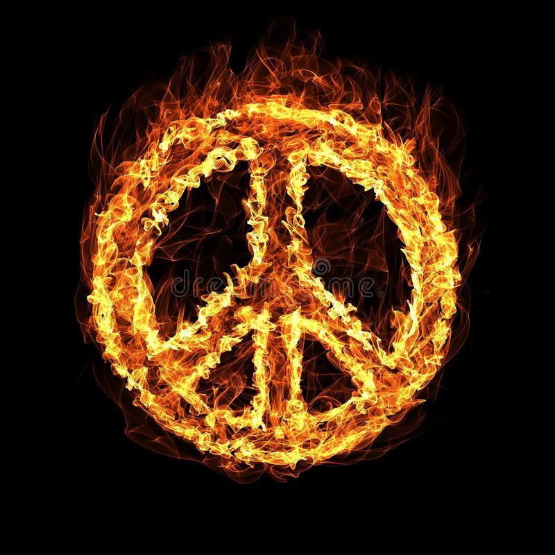 hippie-peace-symbol-fire-61245264